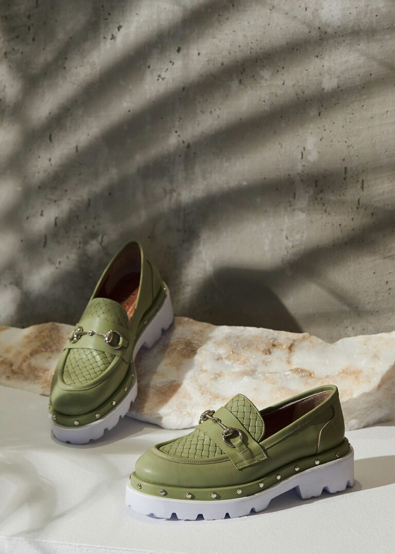Tucino Olive Leather Loafers