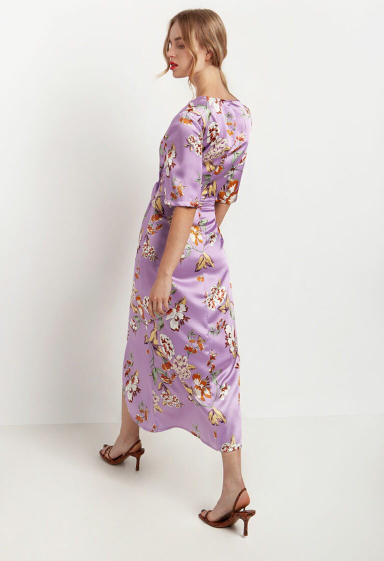 Desiree Floral Dress With Knot