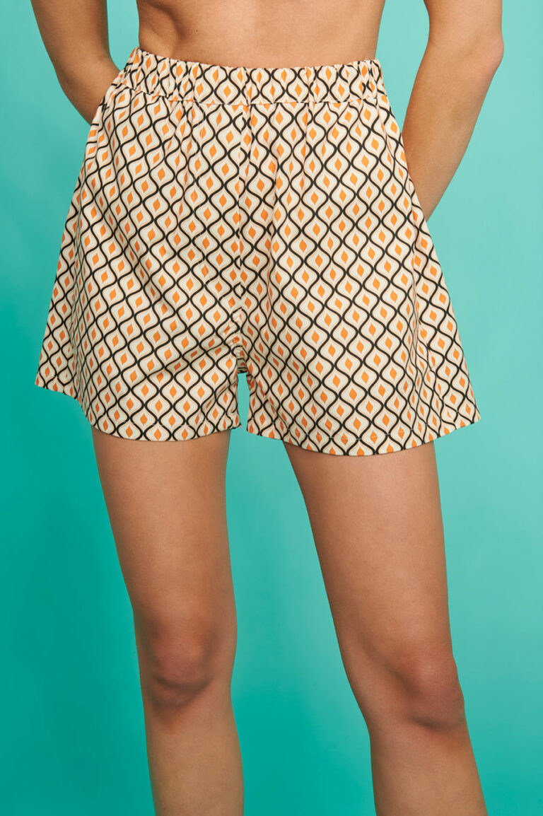 SunSet Go Day Off Print Shorts