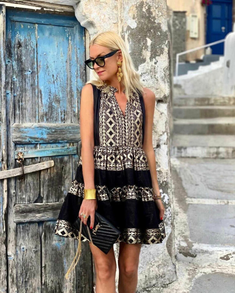 Lace Sifnos Embroidered Dress