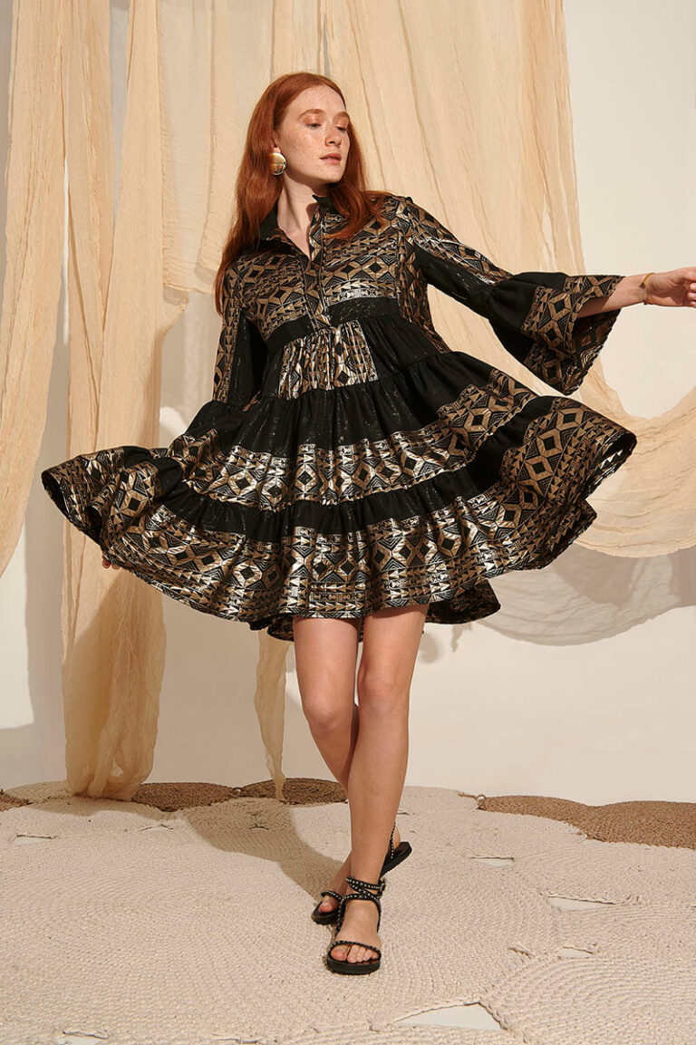 Lace Lemnos Embroidered Dress