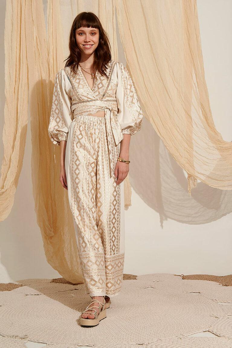 Lace Paros Embroidered Pants
