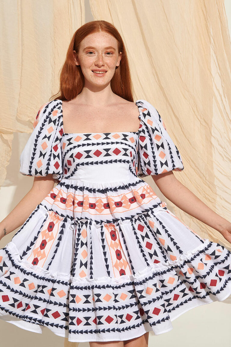 Lace Patmos Embroidered Dress