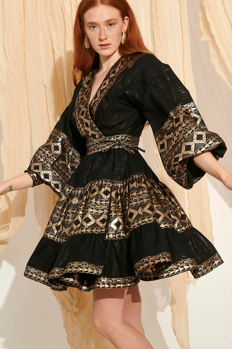 Lace Sikinos Embroidered Dress