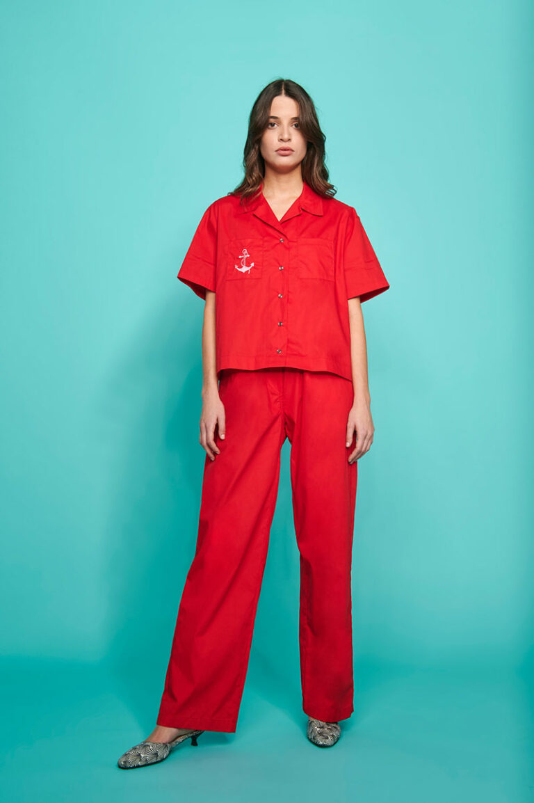 SunSet Go Day Off Nomochrome Pants Red