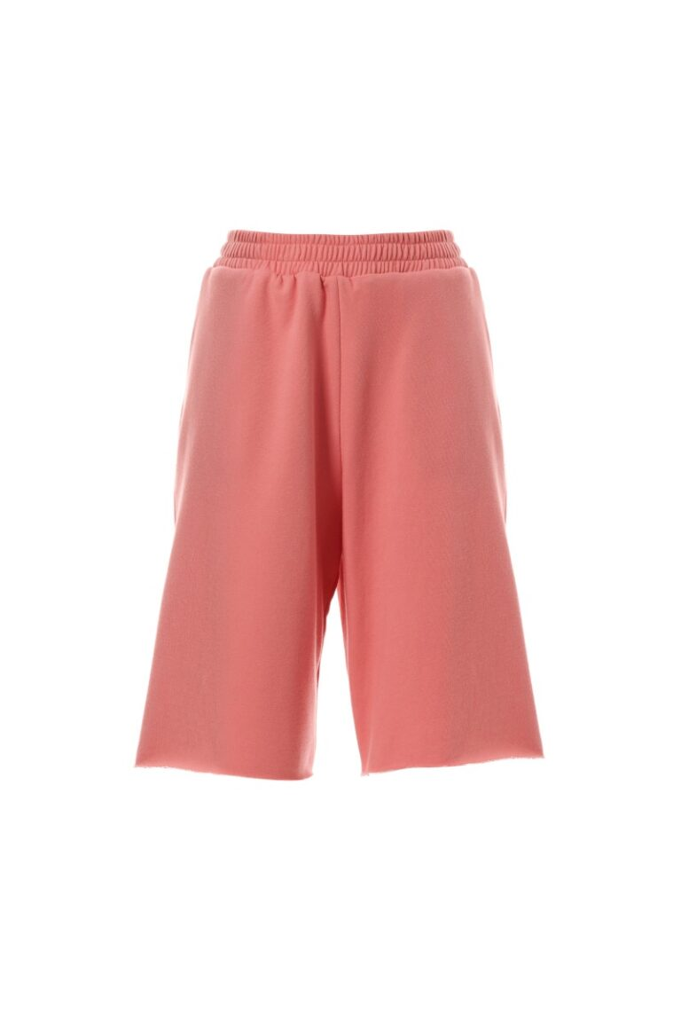 Milkwhite Cherry Bermuda High-waist bermuda Side pockets Made in Greece Product ID: PS21 – 006 Vanilla 60% Cotton 40% PES Hillary is 170cm and she is wearing the small size
