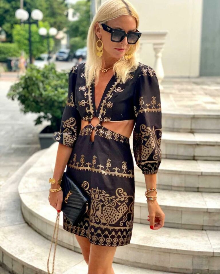 Lace Artemis Embroidered Dress