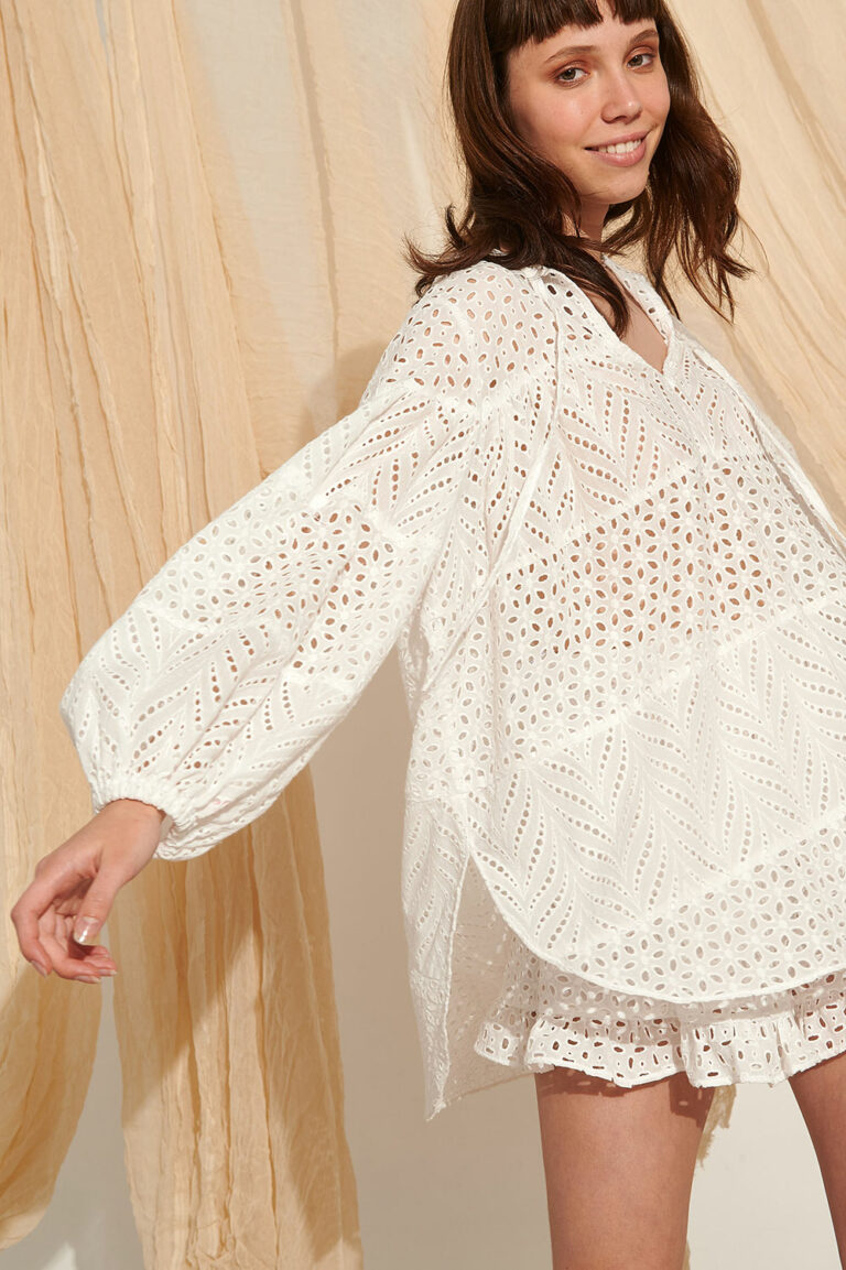 Lace Donoussa Broderie Shirt