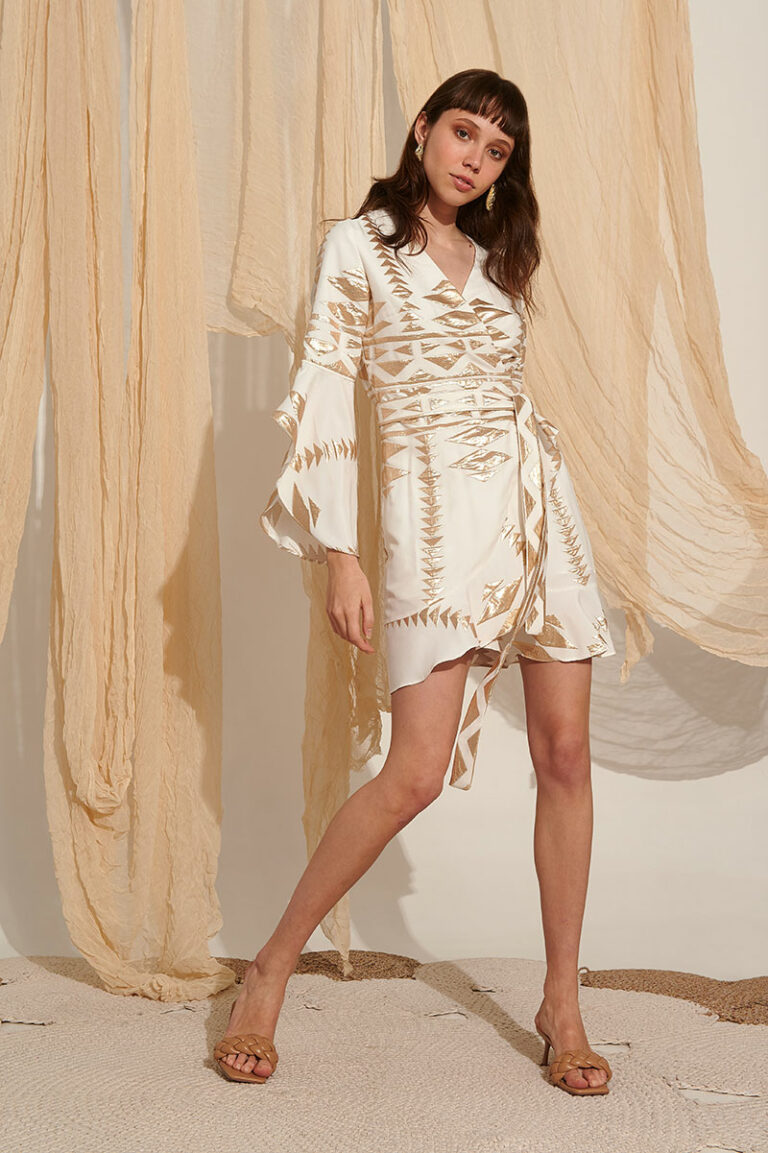 Lace Hydra Embroidered Dress White