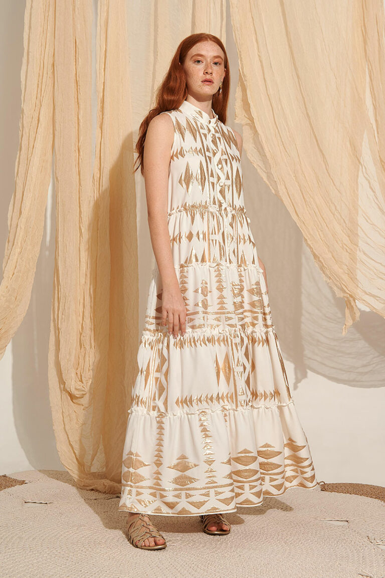 Lace Serifos Embroidered Dress