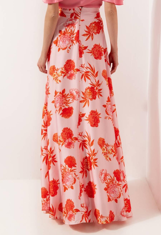 Desiree Silky Floral Maxi Skirt