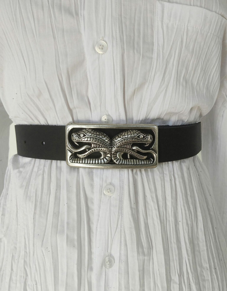 Peace & Chaos The Serpent Leather Belt