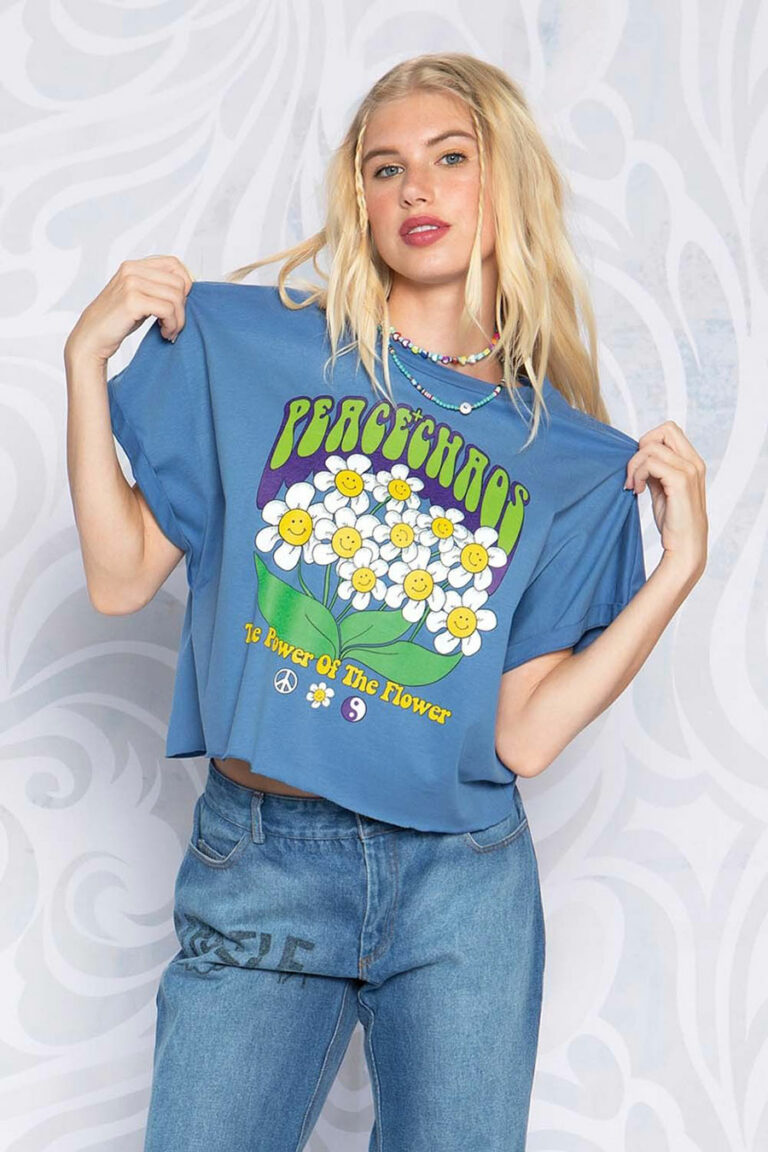Peace & Chaos Power Of The Flower T-Shirt